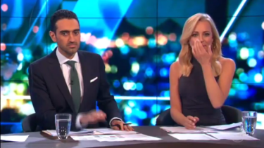 Carrie Bickmore, right, held back tears as she paid tribute to her late husband Greg and thanked the public for their support on <i>The Project</i>.