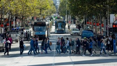 Trams will continue to run in Swanston Street during the construction of the Metro tunnel.