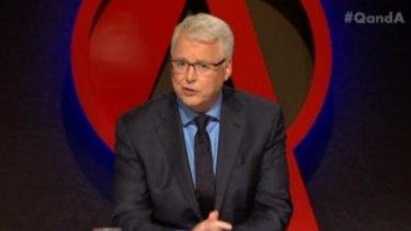 <i>Q&A</i> host Tony Jones.