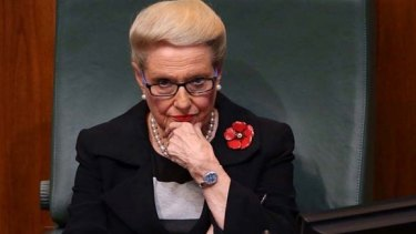 """However, Mr Abbott said Mrs Bishop """"has been a strong servant of our country, she has been a good servant of the Coalition and so she does have my confidence"""":"""