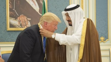 Mr Trump's first overseas trip in May included a warm reception in Saudi Arabia.