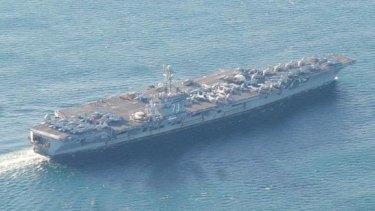 US Navy aircraft super carrier USS George Washington.