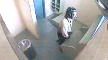 "Screen capture of CCTV footage of ""Young Person A1"" on February 13, 2013 at Brisbane Correctional Centre."