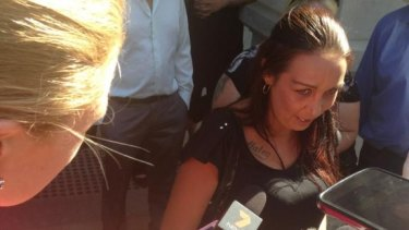 The mother of murdered baby, Tamica Mullaley, outside court after sentencing.