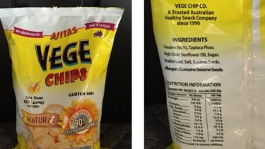The Vege Chip company says it uses the word 'natural' because it does not use any additives like MSG or flavour enhancers derived from MSG.