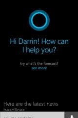 Cortana, Microsoft's digital assistant.