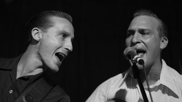 Scott Rehbein (right) and his brother Dean from Queensland band The Hi-Boys, who claim that Nasser Sultan failed to pay them an agreed fee of $500.