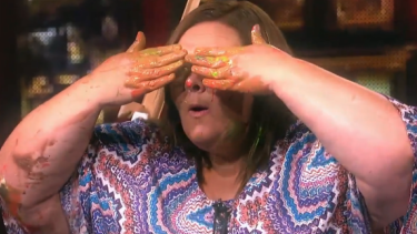 A hypnotised contestant on You're Back in the Room.