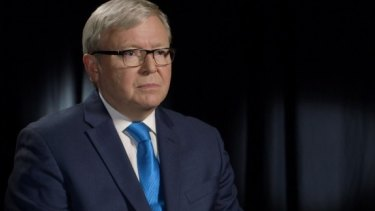 Peter Garrett says Kevin Rudd was a danger to Australia.