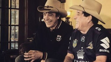 Samuel Johnson with Molly Meldrum.