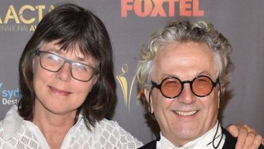 Margaret Sixel (left) won for her editing on partner George Miller's <i>Mad Max: Fury Road</i>.