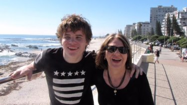 Benison O'Reilly and her son Sam in Cape Town in April this year.