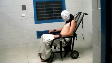 ABC's Four Corners expose showed youths being restrained in mechanical chairs.