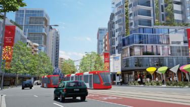 Artist's impression: Randwick Council plans to create about 200 affordable units along the light rail line between Kensington and Kingsford.