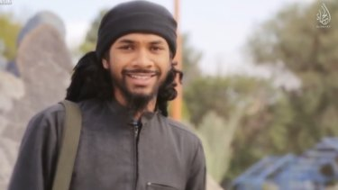 Neil Prakash in a photograph from an IS propaganda video.