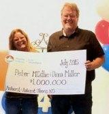 Lightning strike survivor Peter McCathie has now won half a million dollars in the lottery.