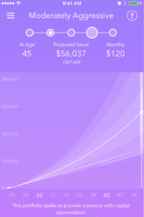 Acorns allows you to choose an investment portfolio for your leftover change.
