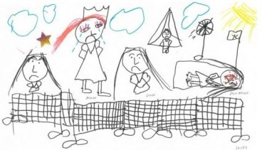 A drawing by a seven-year-old girl in immigration detention.