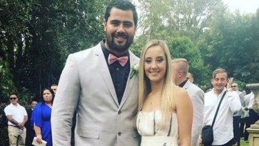 David Fifita and wife Jade Robinson.