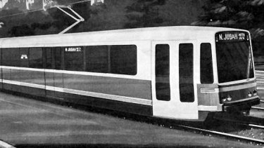 The Boeing Vertol standard light rail vehicle... air conditioned, near silent - and capable of speeds up to 60 mph.