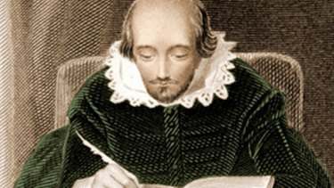 An illustration of the Bard at work.
