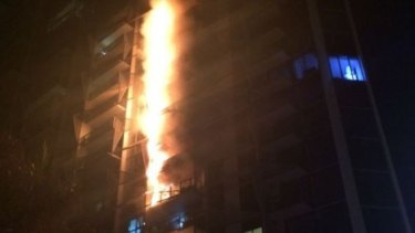 Fire raced up Dockland's Lacrosse tower in 2014 in just 15 minutes, as flammable aluminium cladding caught alight.