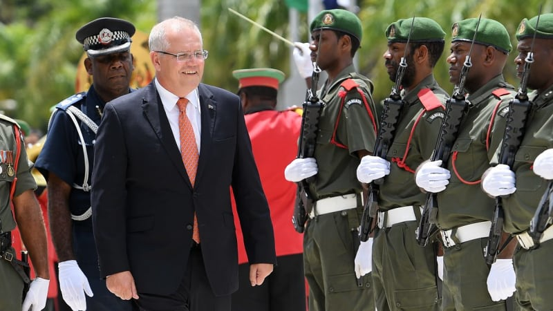 Spy chief Nick Warner in Vanuatu with Scott Morrison shows China pushback