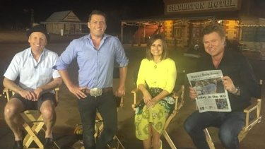 Ross Greenwood, Karl Stefanovic, Lisa Wilkinson and Richard Wilkinson on the road.