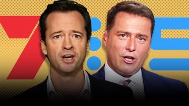 Networks in battle: Seven's Rio Olympics commentator Hamish McLachlan, left, and Nine's former London Games commentator, Today co-host Karl Stefanovic.