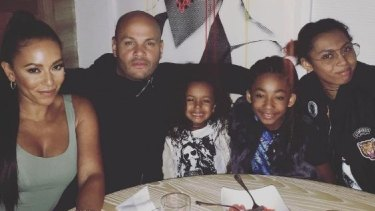 Mel B with her estranged ex-husband Stephen Belafonte, their daughter Madison, and Mel B's daughters Angel and Phoenix.