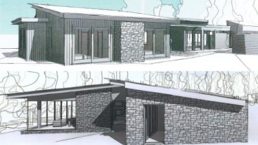 An architect's drawing of the planned extension to the building at Bells Beach.