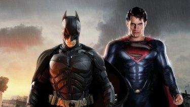 Whinging superheroes: Batman and Superman.
