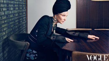 Cate Blanchett features in the latest issue of Vogue Australia.