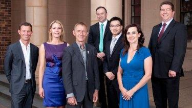 Maribyrnong Councillors (from left): Grant Miles, Sarah Carter, Martin Zakharov, Cameron McDonald, Nam Quach, Catherine Cumming and Michael Clarke.