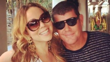 Mariah Carey and James Packer in an Instagram post from Mykonos, Greece, in 2016.