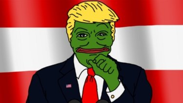 The image of Donald Trump as Pepe retweeted by the candidate.