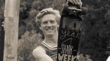 Brett Connellan was flown to hospital after being bitten by a shark.