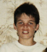 Young and innocent … Gwilliam as a boy.