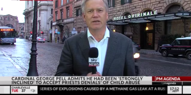 Andrew Bolt is in Rome as a 'Sky News contributor'.