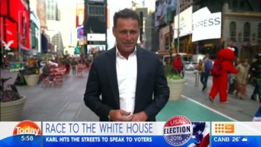 Karl Stefanovic has been covering the US election for Nine.