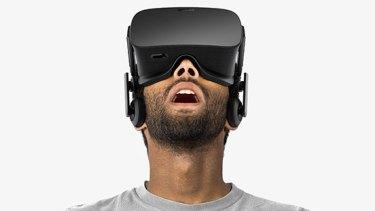The Oculus Rift VR headset.