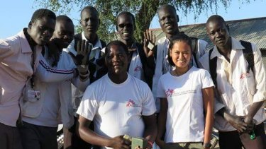MSF nurse Jessa Pontevedra, centre-right, with national staff in South Sudan. She has just begun a mission in Kurdistan, Iraq.