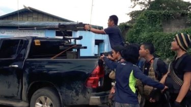 Scenes of fighting in Marawi broadcast on an IS propaganda outlet.