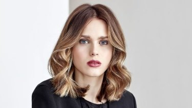 An example of the latest hair colouring trend: colour contouring designed to suit your individual face shape.