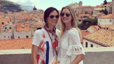 Close ties: Ivanka Trump and Wendi Deng in a photo on Ivanka's Instagram account.