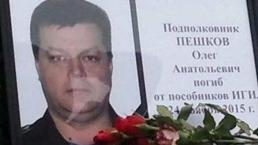 Lieutenant-Colonel Oleg Peshkov died after his plane was shot down.