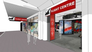 Impression of the new Flight Centre hyperstore in George Street, Sydney.