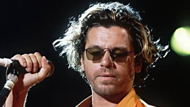 Michael Hutchence performing with INXS in 1994.