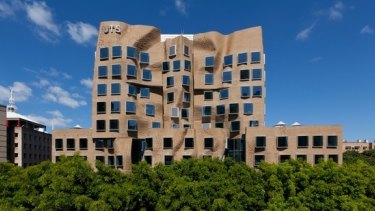 Landmark: The Frank Gehry-designed building at the University of Technology, Sydney.