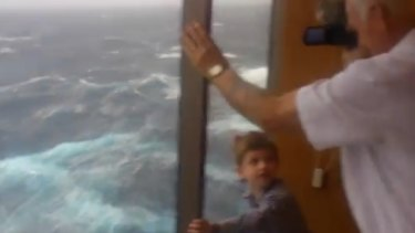 """""""They are turning the ship to make it more bearable. It is very scary"""": passengers could be trapped for up to two days."""